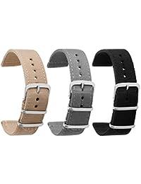 Bracelet Montre En Nylon 18mm De Pour Hommes Femmes Premium b58c4c910961