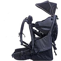 Pawsfiesta Porte bébé support dorsal pour l'enfant pour les randonnées et l'excursion Couleur:noir
