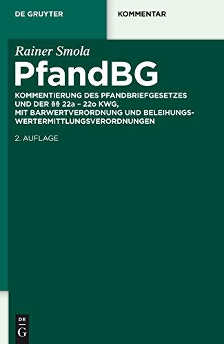 Pfandbriefgesetz (De Gruyter Kommentar)