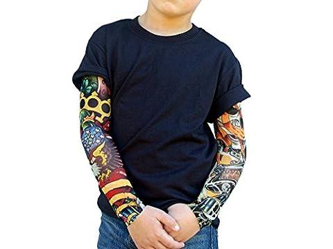Usa Costume Pour Kid - T-Shirt pour garçon Motif roses sauvages, poing