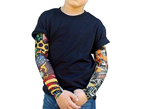 Wild Rose Boys T-Shirt, IKandy/in ottone nocche Tattoo a maniche, Nero