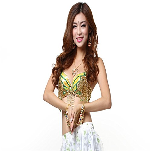 Tanzkleidung Tops Bra Costumes Bead Fringe Bra Sequin Butterfly Bra Top Belly (Butterfly Baby Halloween Kostüme)