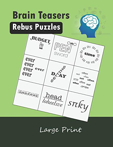 Puzzles Large Print: Word Picture Puzzles Plexer Book Game ()