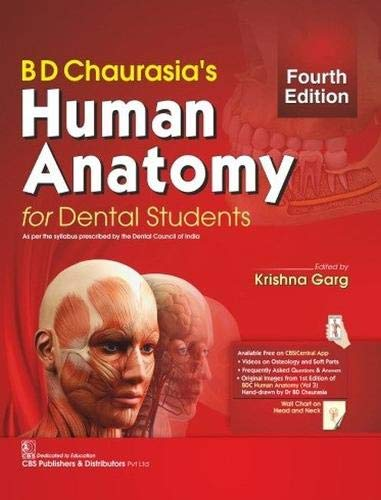 BD CHAURASIAS HUMAN ANATOMY FOR DENTAL STUDENTS 4ED (PB 2020)