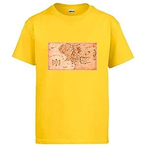 Diver Camisetas Camiseta El Señor de los Anillos Mapa Tierra Media