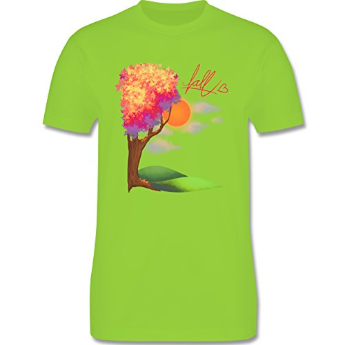 Statement Shirts - Herbst - Fall love - Herren Premium T-Shirt Hellgrün