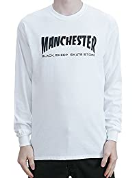 Black Sheep Manchester Long Sleeved T-Shirt White Tee