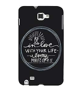 Fuson Designer Back Case Cover for Samsung Galaxy Note 2 :: Samsung Galaxy Note Ii N7100 (Be in love theme)