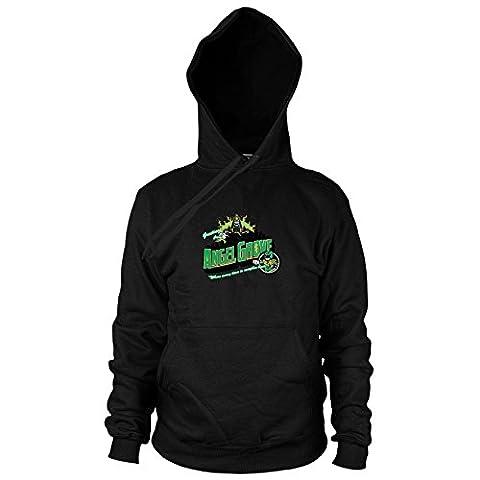 Greetings from Angel Grove Green - Herren Hooded Sweater, Größe: XXL, Farbe: schwarz (Schwarz Mighty Morphin Power Rangers Kostüm)