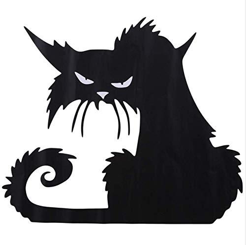LONGTENGHEIHA Schwarze Katze Wandaufkleber, Halloween Flugzeug Cartoon Fenster Glas Aufkleber, Heiße Kinder Home Decor Decals