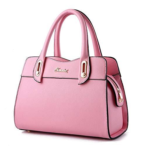 FANGDADAN Damen Umhängetaschen,Frauen Tasche Handtasche Schulter Top-Handle Taschen Weibliche Mode Messenger Bag Sweet Lady Aktenkoffer, Rosa (Rosa Aktenkoffer)