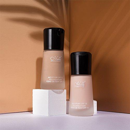 Liquid Foundation Full Coverage,Molie Concealer Foundation Natural Lasting Performance