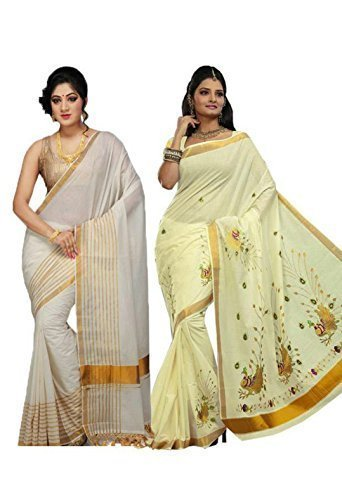 SSG KERALA KASAVU SAREES- TWO SAREES IN ONE PACK