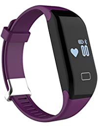 iMusi Bracelet Connecté Montre de Sport Fitness Intelligente SmartWatch IP65 Etanche Pour iphone et Android Violet