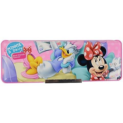 Disney Mickey Minnie de plástico Cajas de lápiz / la caja de lápiz 83004-05 (Rosa)