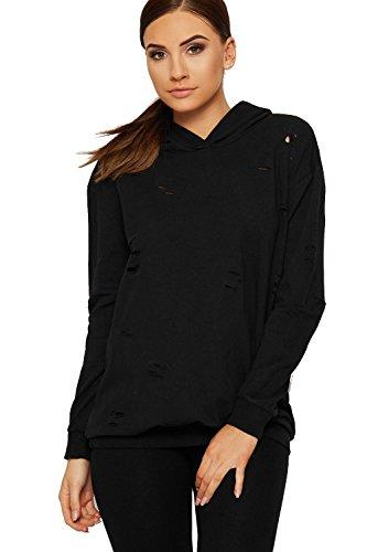 Rewatronics - Sweat-shirt - Chemise - Manches Longues - Femme Noir