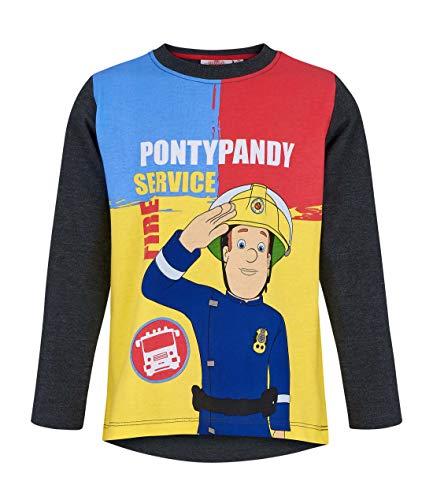 Sam Le Pompier Jungen T-Shirt 5408, Grau Gris, 3 Jahre