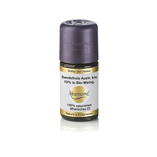 Neumond ätherisches Öl, Sandelholz Australien bio 10 percent in Bio-Weingeist, 5 ml, 1er Pack (1 x 5 ml) (Album Sandelholz-santalum)