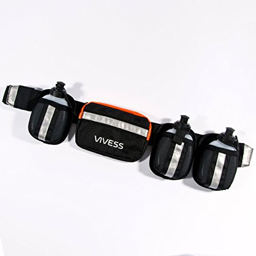 it abnehmbaren Gürtel mit Reißverschluss, integrierte-Blende, 3 Flaschen, Reflektoren ()