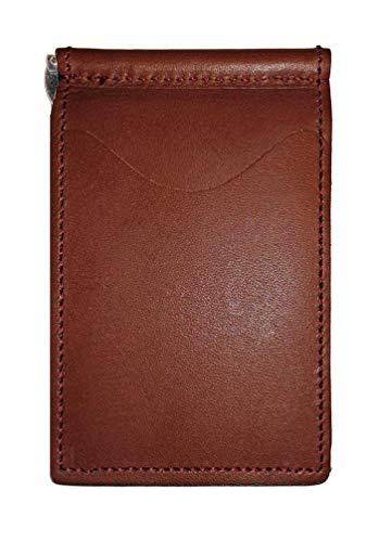 - Grain-leder-geld-clip Brieftasche (Rückseite Saver Brieftasche, Herren, Brown with Mossy Oak Pockets)