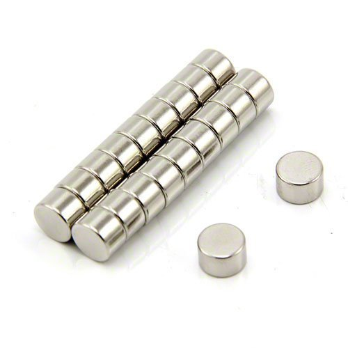 Magnet Expert - Imanes circulares para manualidades (neodimio, grado N42, 8 x 5mm, 2kg, 20 unidades)