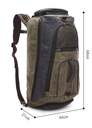 &ZHOU Segeltuchtasche, Canvas-Tasche, große Kapazität, Outdoor-Rucksack, Multi-funktionale, Schulter-Taschen, Güter mit doppeltem Verwendungszweck, einzelne Schulter schräg Kreuz, Männer und Frauen, B army green