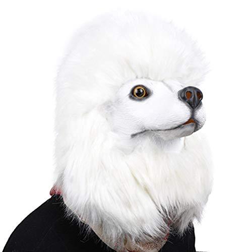 Hunde Kostüm Streich - YeahiBaby Tierkopf Maske Halloween Latex Maske Tiermaske Hunde Cosplay Maske Streich Prop Halloween Kostüm