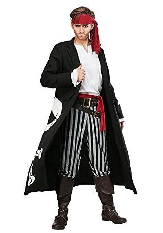 Pirate Flag Captain Plus Size Mens Fancy dress costume 2X