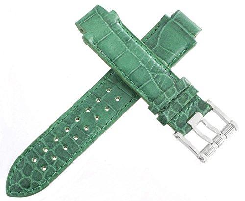 aquanautic Herren Green Alligator Leder Armbanduhr Band Riemen mit Schnalle aus 15mm