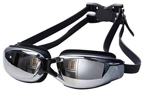 Qchomee Kurzsichtige Schwimmbrille Korrektur wasserdicht Anti-Fog UV-Schutz Einstellbar Optische Schwimmbrille mit undichten Silikondichtungen für Erwachsene Frauen Männer (Myopie -2 bis -5)