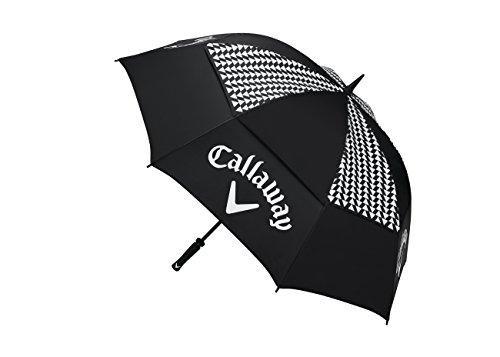 Callaway Golf 2017pour femme Uptown 152,4cm double Canopy Parapluie Ventilation Lite, noir/blanc, taille unique