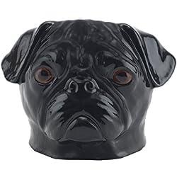 Quail Ceramics - Huevera, diseño de perro carlino