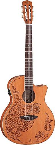 Electric Nylon Acoustic (Luna Guitars HENO2NYL Henna Oasis Nylon Acoustic Electric Konzertgitarre)