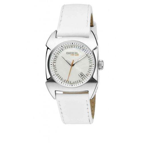 Breil tw0351 - orologio da polso da donna, cinturino in pelle colore bianco