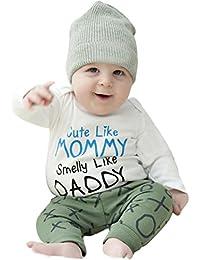 Ropa de bebé, RETUROM Nueva ropa recién nacida de la letra de la manga larga del bebé