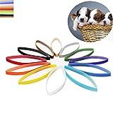 Peng sounded 12-farbige Neugeborenen Milch Katze Milch Hund Welpen Identifikation Seil mit Flauschigen Haustier Identifikation Kreis Haustiere zu unterscheiden die Geburtsurkunde. Mode