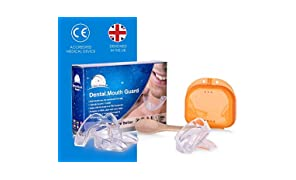Time2Sleep Mouth Guard for Grinding Teeth - 4 x UK Designed Teeth Grinding Guard - Dentist Recommended