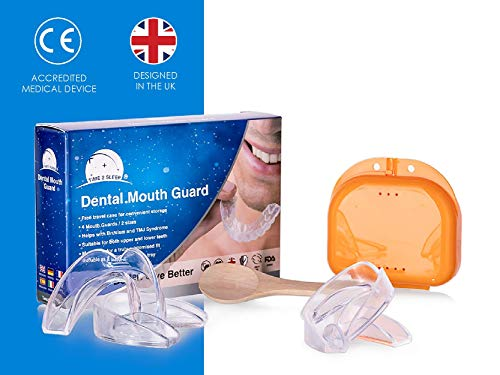 Time2sleep Zahnschiene bei Zähneknirschen - Knirscherschiene für Nachts -Schnarchschiene inkl. Box für einen besseren Schlaf - Hochwertiger Mundschutz beiSchnarchen - 4 Stück