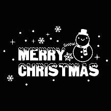Yazidan Frohes Neues Jahr FröHliche Weihnachten Mauer Aufkleber Zuhause GeschäFt Fenster Abziehbilder Dekor Star Dekorationen Kristall Windows Entfernbar Dekoration Abziehbild Geschenk(Weiß)
