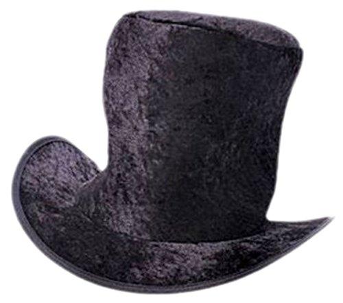 Confettery - Herren Zylinder Kopfbedeckung für Weihnachtstheater Ebenezer Scrooge, One size, Schwarz (Süße Santas Helfer Kostüme)