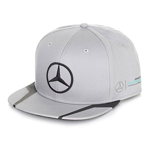 Ford New! 2016 Mercedes AMG Driver Flatbrim Lewis Hamilton Cap - Grey