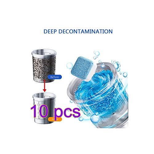 BYE CHOW Waschmaschinenreiniger Brausetabletten, Tiefenreiniger Deodorant Dauerhafte Reinigungstabletten Effektive Brausetabletten (10 STÜCK)