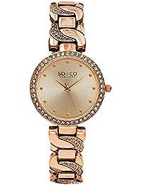 SO & CO New York 5062.3 - Reloj de pulsera Analogico Mujer correa deChapado en acero inoxidable Oro Rosa
