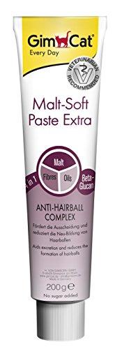 GimCat Malt-Soft Paste Extra Cibo Complementare per Gatti con Effetto Anti-Hairball – 200 gr
