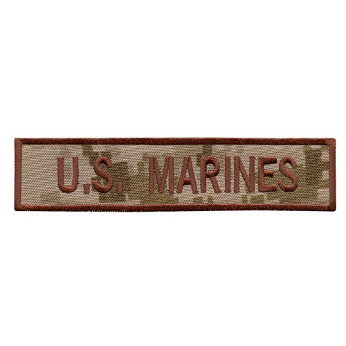US Marines AOR1 USMC Name Tape Desert Army Stickerei Combat Hook-and-Loop Aufnäher Patch -