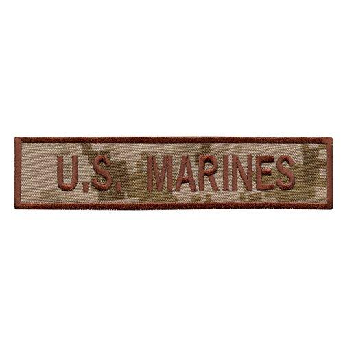 US Marines AOR1 USMC Name Tape Desert Army Stickerei Combat Hook-and-Loop Aufnäher Patch -