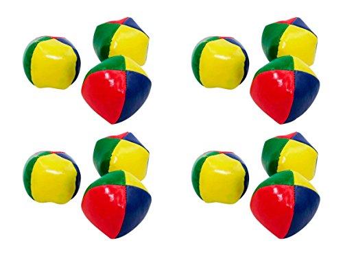 4 Sets mit je 3 Jonglierbällen - Mitgebsel- Kindergeburtstag (Groß Ø 6,5cm)