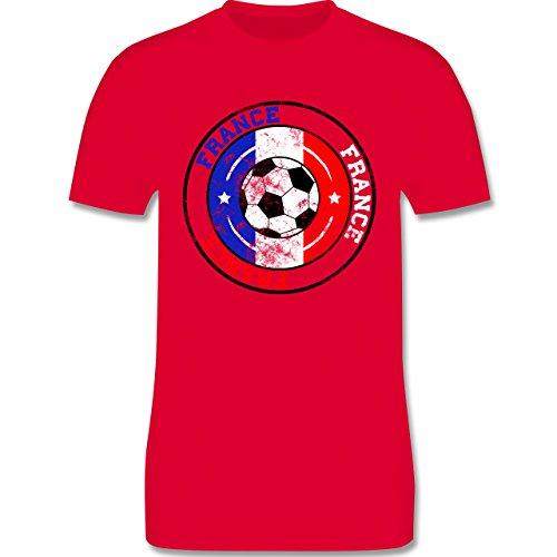EM 2016 - Frankreich - France Kreis & Fußball Vintage - Herren Premium T-Shirt Rot
