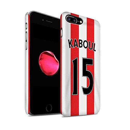 Offiziell Sunderland AFC Hülle / Glanz Snap-On Case für Apple iPhone 7 Plus / Matthews Muster / SAFC Trikot Home 15/16 Kollektion Kaboul
