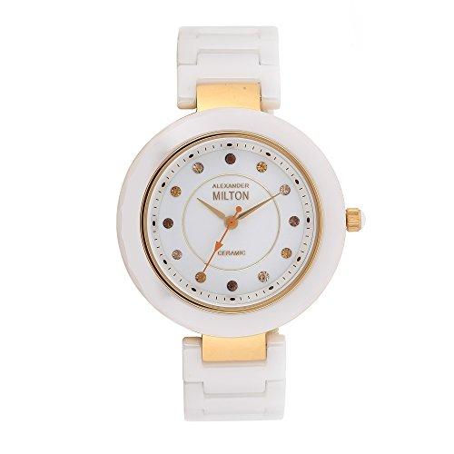 ALEXANDER MILTON - montre femme - RO, blanc/dore